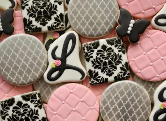 Damask-Baby-Shower-Cookies